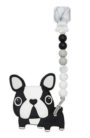Giftsmith DYOG Silicone Teether Set Boston Terrier