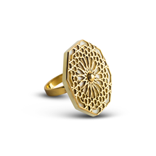 Load image into Gallery viewer, Mother of pearl ring with geometric patterns