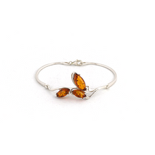 Load image into Gallery viewer, Baltic amber silver bracelet