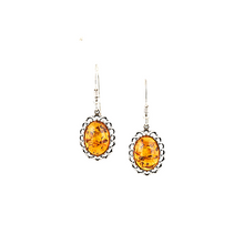 Load image into Gallery viewer, Baltic amber silver earrings