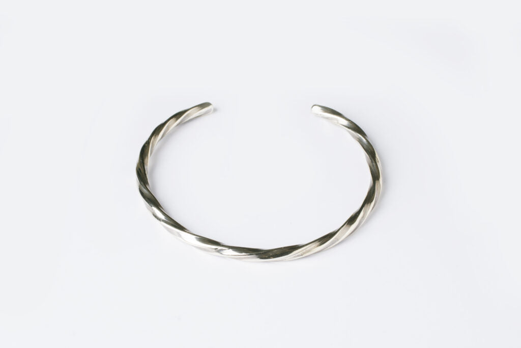 Elegant silver cuff for women