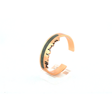 Load image into Gallery viewer, Pakistan skyline bangle with gemstone inlay, pietra dura , copper bangle