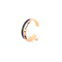 Load image into Gallery viewer, Pakistan skyline bangle with lapis lazuli inlay, pietra dura , copper bangle