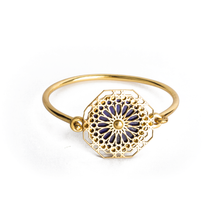 Load image into Gallery viewer, Ruke ne alam inspired brass bangle with lapis lazuli