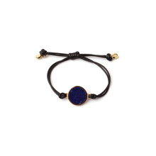Load image into Gallery viewer, Adjustable inlaid  lapis lazuli bracelet