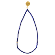 Load image into Gallery viewer, 99 beads tasbeeh/tasbih, gemstone lapis lazuli and citrine, with allah imam