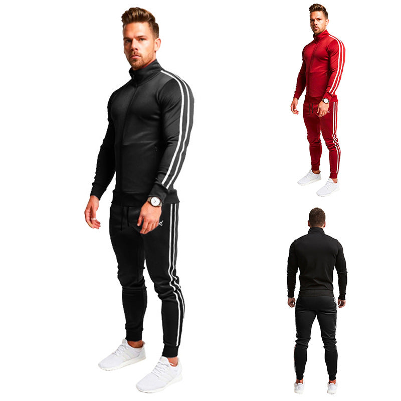 2020 Fashion Men's Outdoor Sports Wear Tracksuits Hooded Sweater And Sports Pants