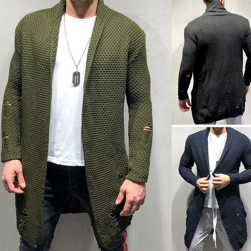 New Arrival Men Autumn Sweater Fashion Pattern Design Korean Style Long Sleeve Male Cardigan Sweater Slim fit Casual Sweater