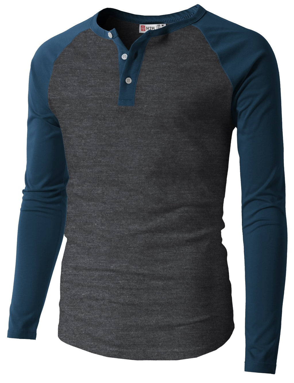 Mens Casual Premium Slim Fit T-Shirts Henley Long Sleeve Spring Summer Clothes