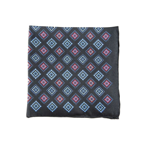 Aztec Black Pocket Square