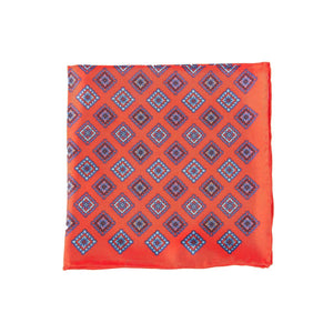 Aztec Red Pocket Square