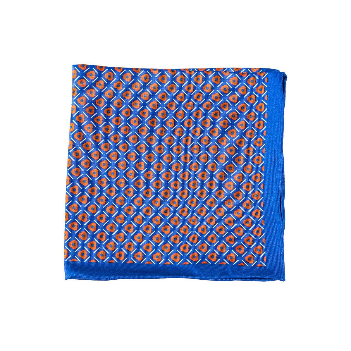 Azure Geometric Pocket Square + SquareGuard