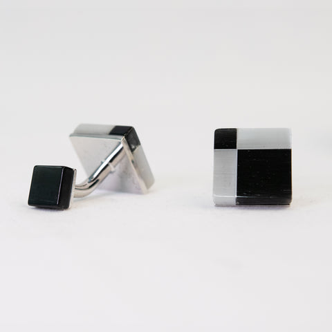 Black & White Checkered Cufflink