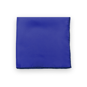 Cobalt Dotted Trim Pocket Square