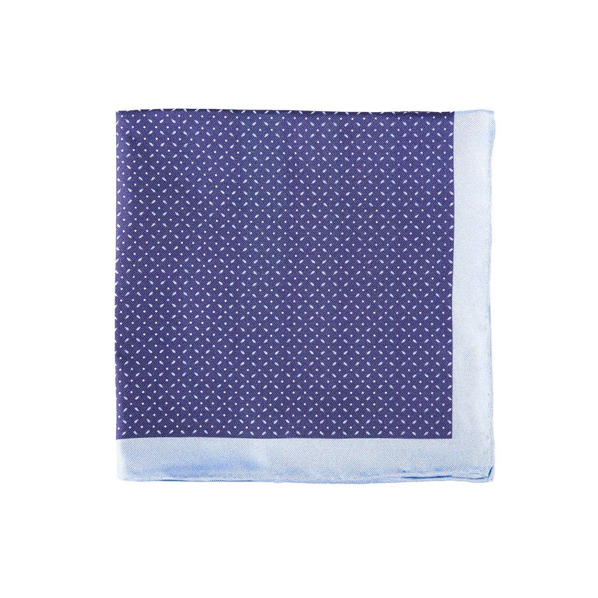 Blue Dotted Spin Pocket Square + SquareGuard