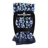 Blue Mini Floral Pocket Square Square Fold