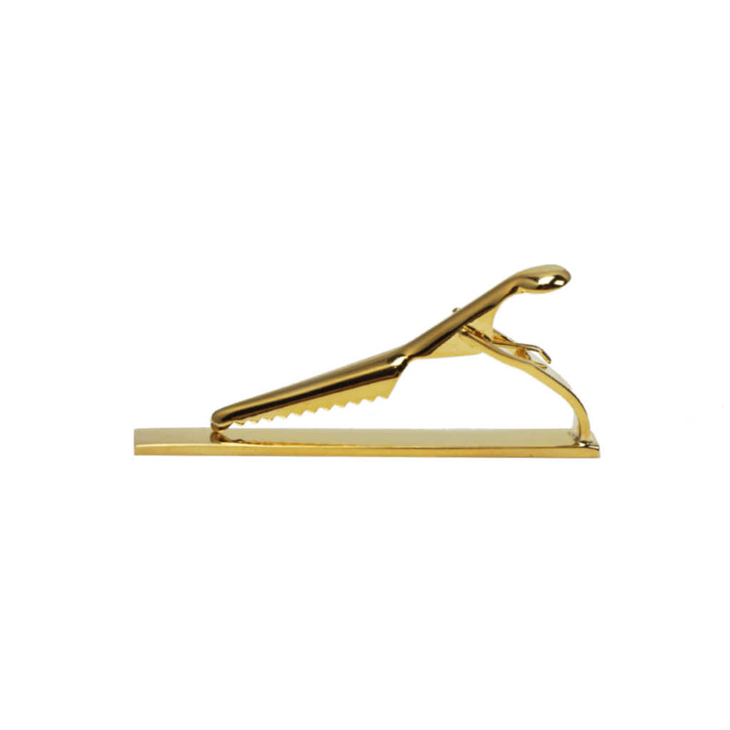 Gold Mens Tie Bar With Clip