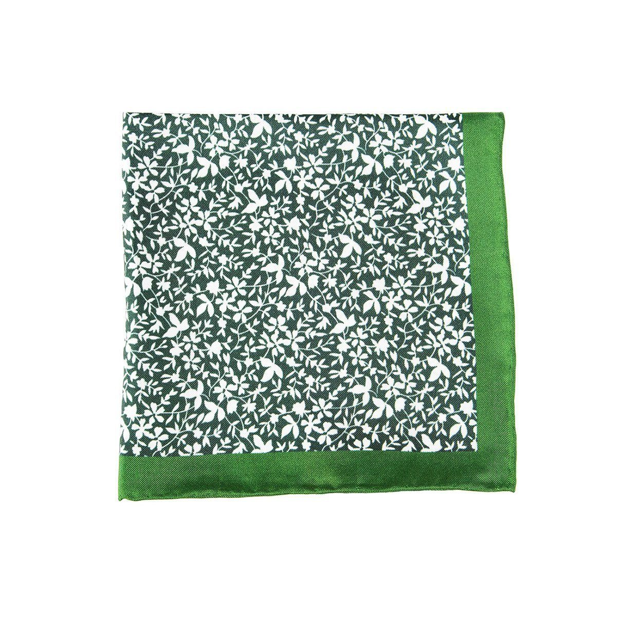 Green Papyrus Pocket Square