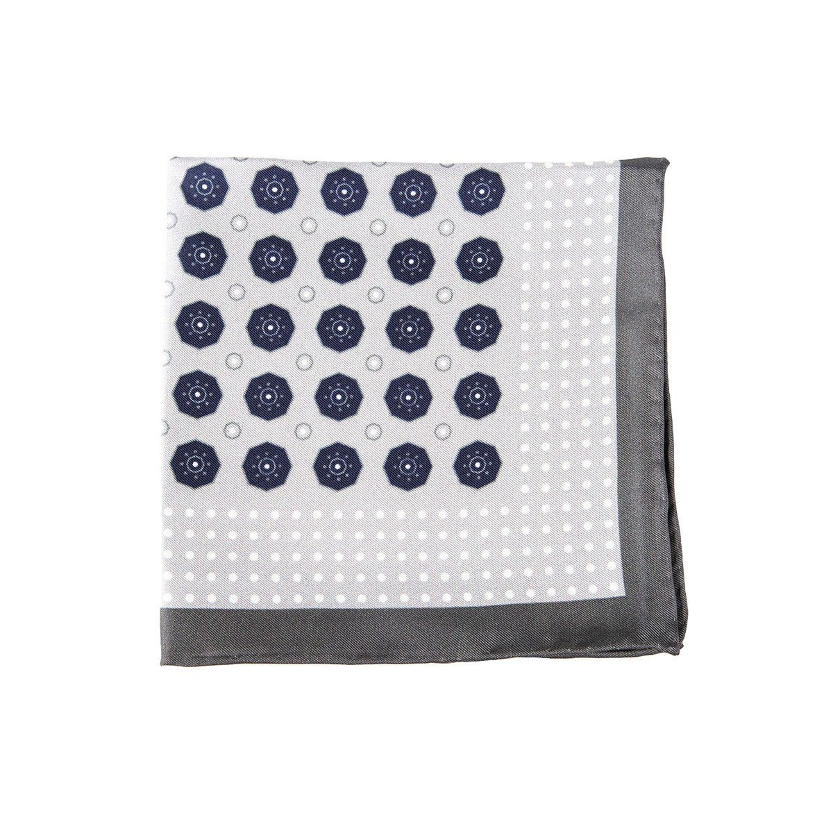 Grey Stone Pocket Square