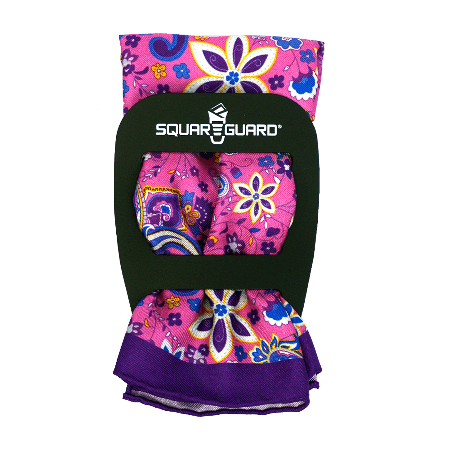 Groovy Flowers Pocket Square Classic Fold