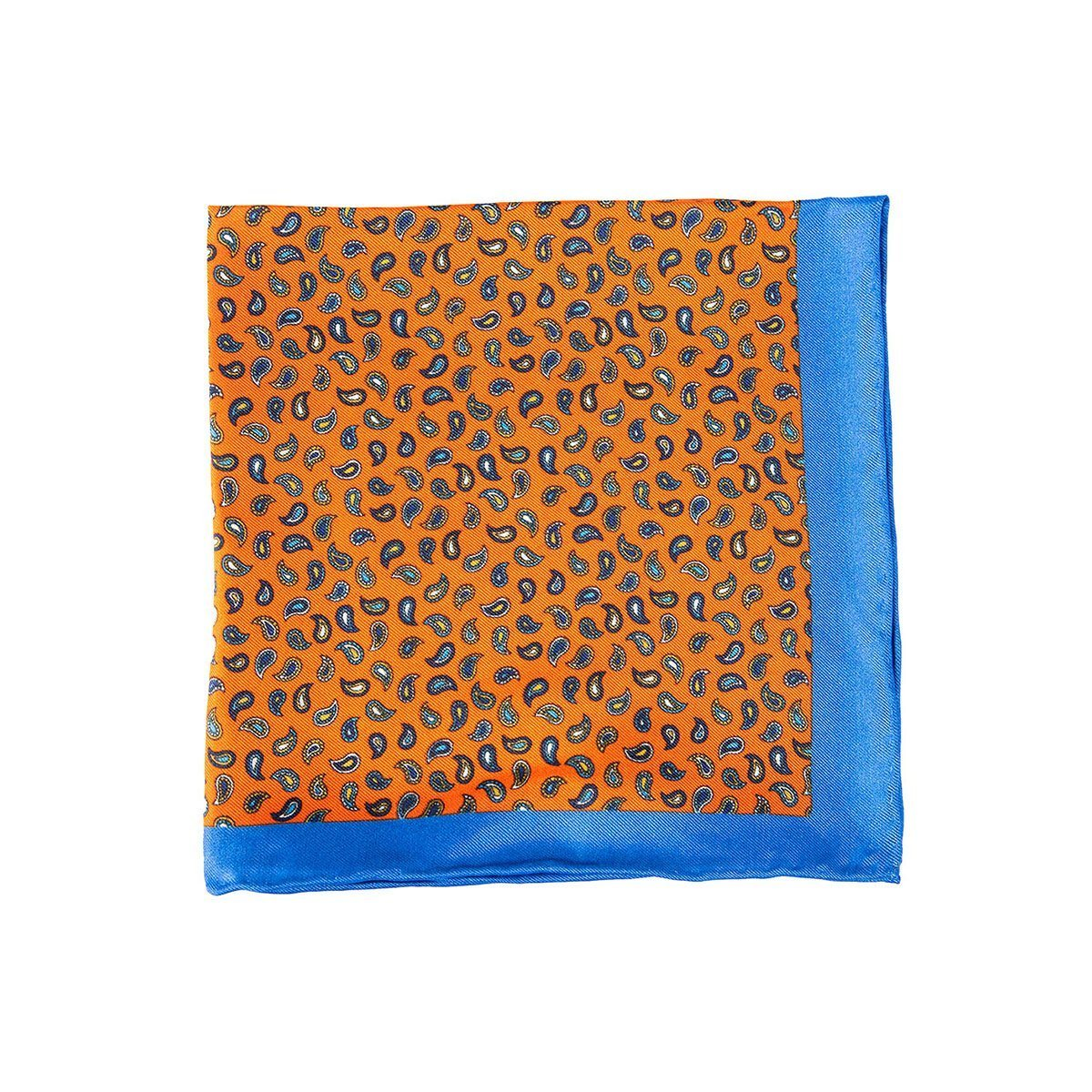 Mayan Fire Paisley Pocket Square