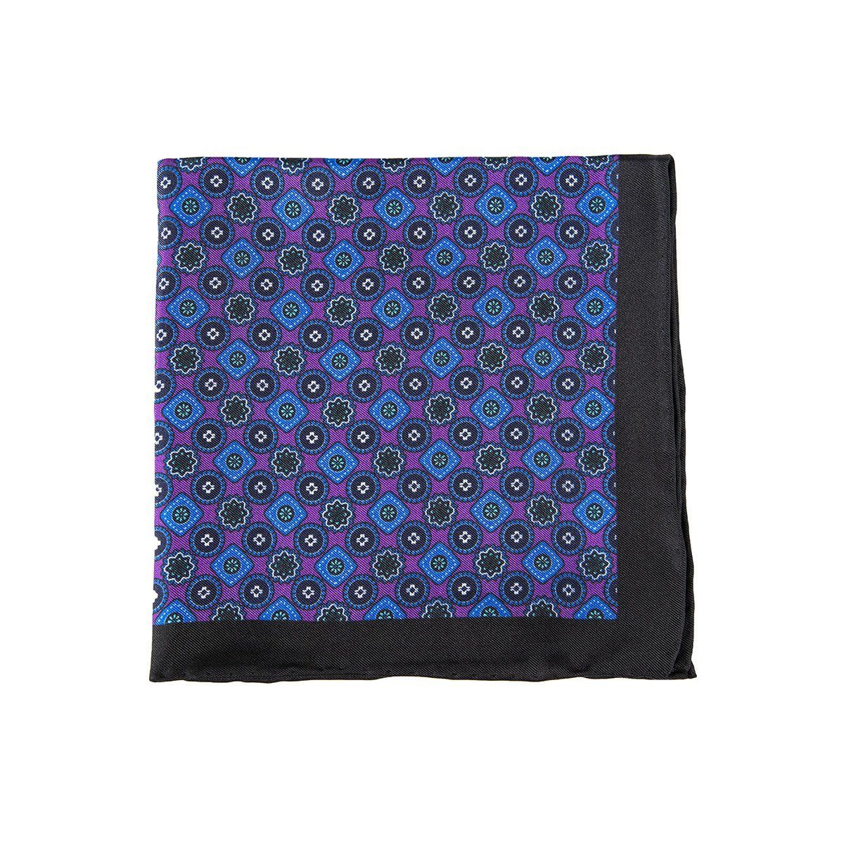 Purple Wildflower Pocket Square