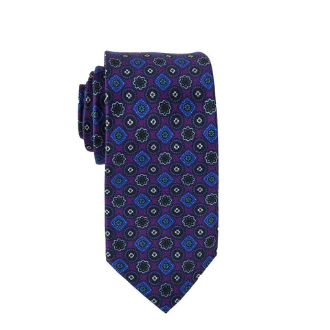 Purple Wildflower Tie