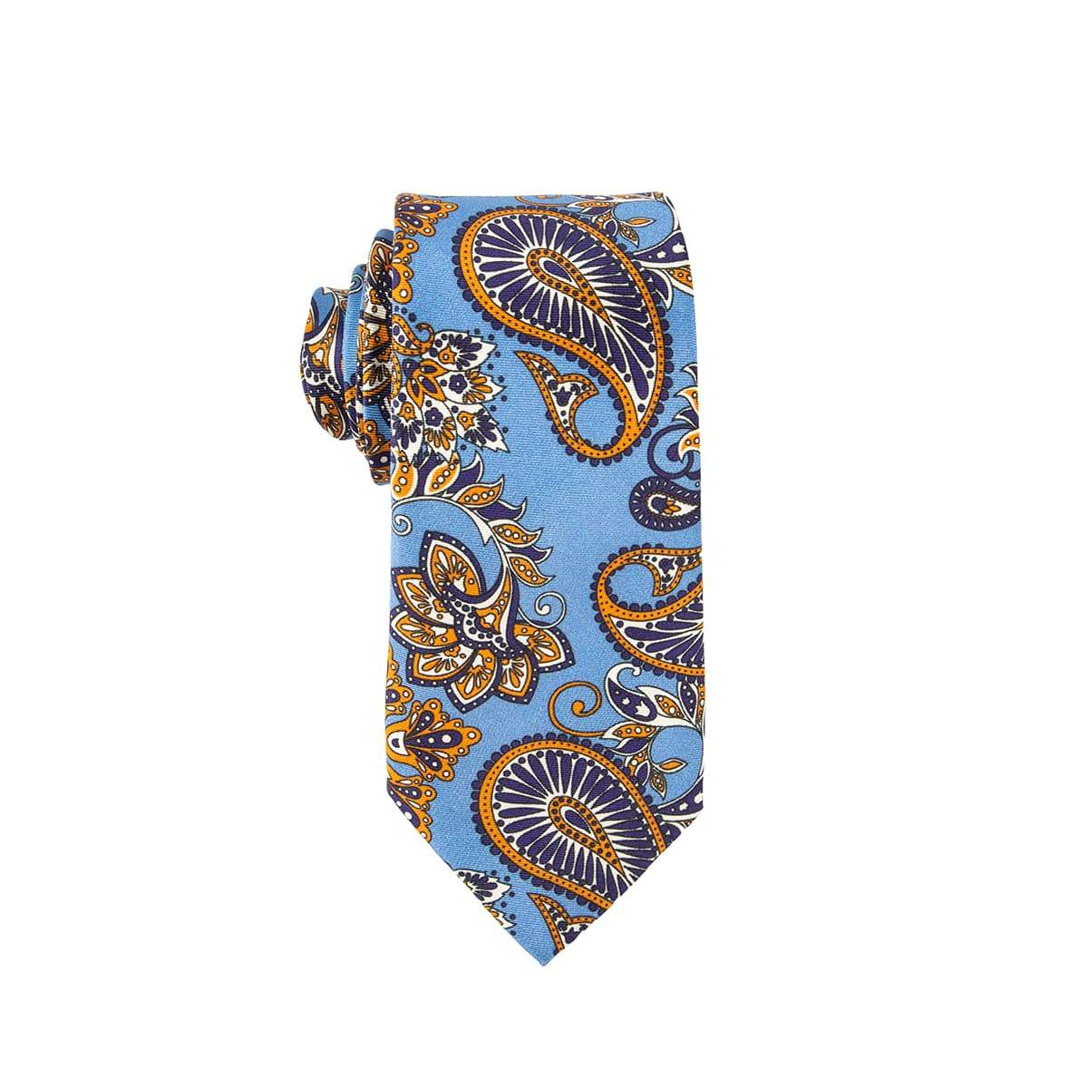 Timeless Purple Blue Paisley Tie