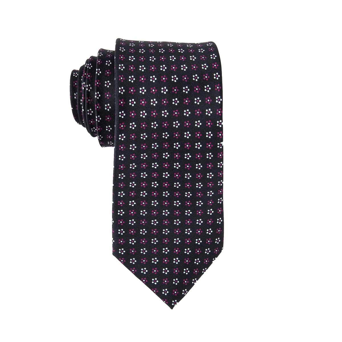 White Daisy Floral Tie