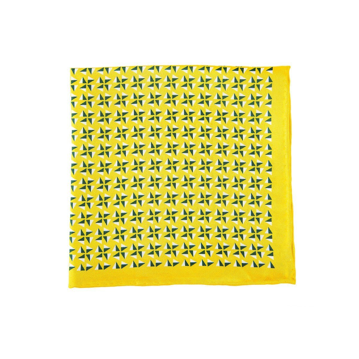 Yellow Fans Pocket Square