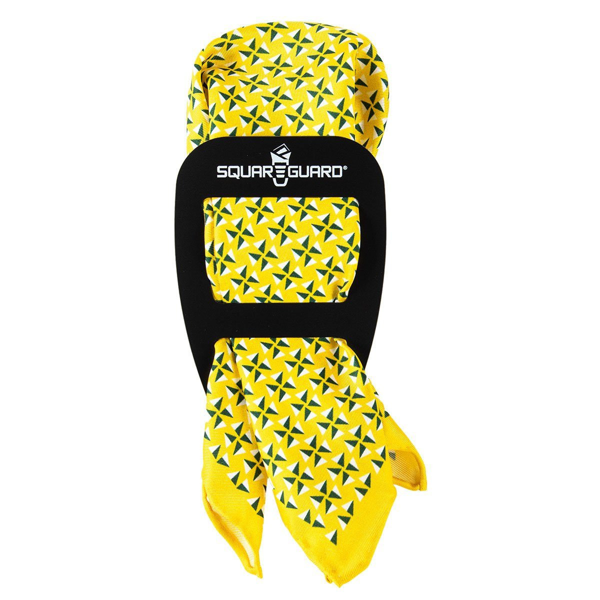 Yellow Fans Pocket Square Puff Fold