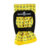 Yellow Fans Pocket Square Square Fold