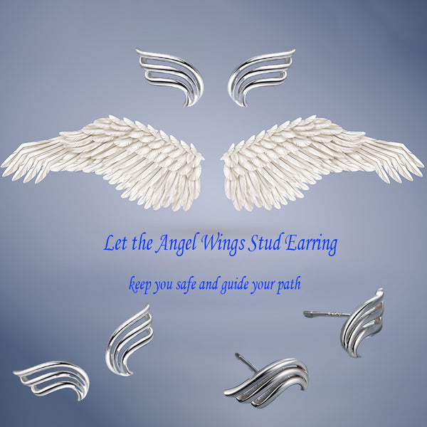 """LOVE"" Angel Wings Earrings"