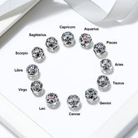 Lucky Birthstone Beads 12 Zodiac Beads (Buy 1 bead get 1 Necklace Chain FREE)