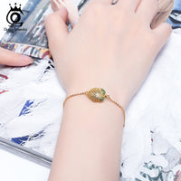 925 Sterling Silver 18K Gold Plated Bracelet