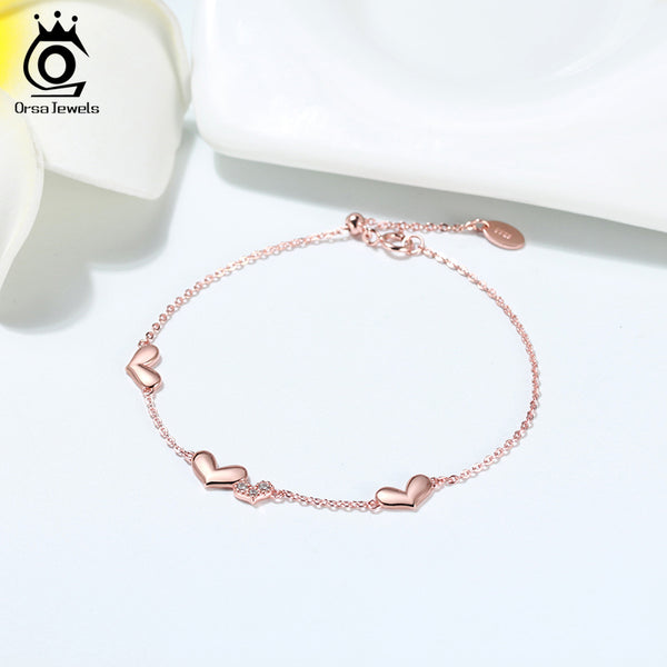 Sweet Love Hearts Shape Bracelet