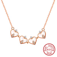 2-In-1 Four Heart Deformable Lucky Heart Necklace