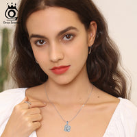 925 Sterling Silver Women Love Flower Pendant Necklace