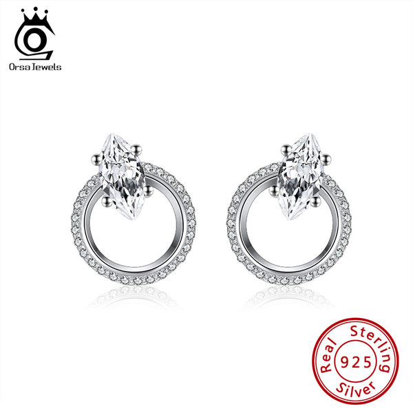 925 Sterling Silver Round Stud Earrings
