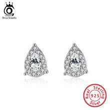 Load image into Gallery viewer, Exquisite 925 Sterling Silver Lab Diamond Earrings