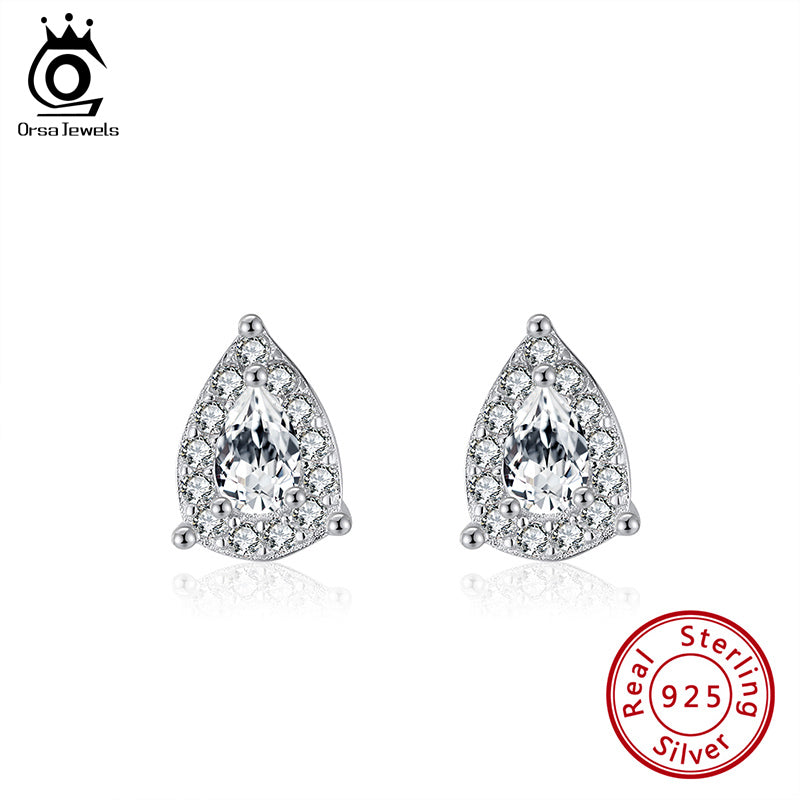 Exquisite 925 Sterling Silver Lab Diamond Earrings