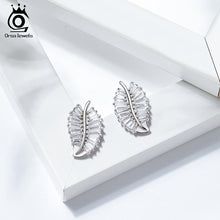 Load image into Gallery viewer, 925 Sterling Silver Lucky Tree Leaf  Charm Hoop Earrings