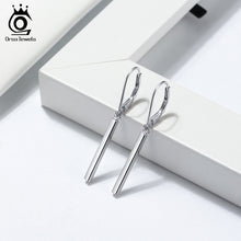 Load image into Gallery viewer, 925 Sterling Silver Earrings Perfect Polished Simple Simple bar Shape Earrings