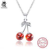 Sweety Red Garnet Cherry Necklace