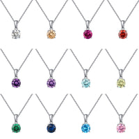 Lucky Birthstone Pendant Necklace