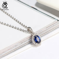Luxury  Oval Cutting Pendant Necklace for Party