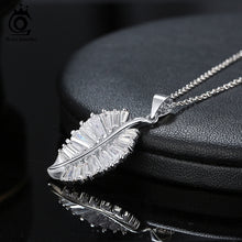 Load image into Gallery viewer, 925 Sterling Silver Leaf Pendant Necklace
