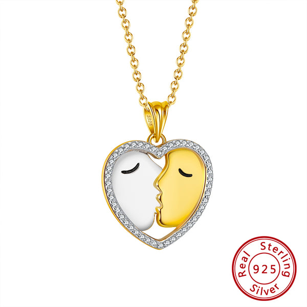 Sweet Kiss Pendant Necklaces for Couple Valentines Day Gift