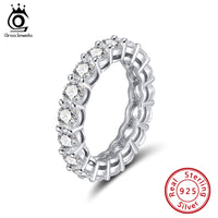 Platinum Plated Sterling Silver Eternity Ring
