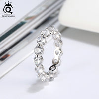 925 Sterling Silver Twinkle Classic Eternity Rings